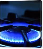 Flaming Blue Gas Stove Burner Canvas Print