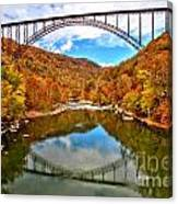 Flaming Fall Foliage At New River Gorge Canvas Print