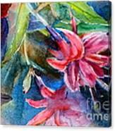 Flaming Fuchsias Canvas Print