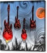 Flaming Guitars Canvas Print