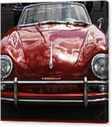 Flaming Red Porsche Canvas Print