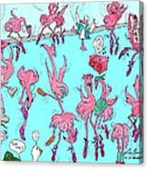 Flamingo A Go Go Canvas Print