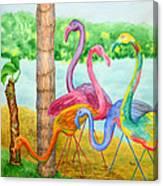 Flamingo Dingos Canvas Print