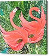 Flamingo Mask 1 Canvas Print