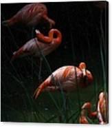 Flamingo Morning Canvas Print