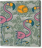 Flamingos Love Canvas Print