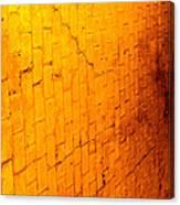 Flamming Brick Wall Canvas Print