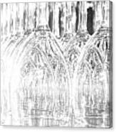 Flash Of Light On Glass Canvas Print