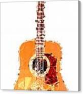 Flashy Guitar Canvas Print