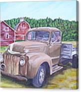 Flathead Monster Truck Canvas Print