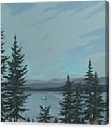 Flathead Sailboat Canvas Print