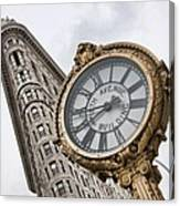 Flatiron And Clock Canvas Print