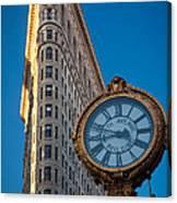 Flatiron Clock Canvas Print