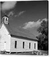 Flatt Rock Church Bw Canvas Print