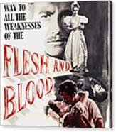 Flesh And Blood, Top L-r Richard Todd Canvas Print