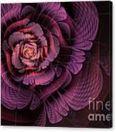 Fleur Pourpre Canvas Print
