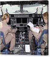 Flight Captains Review Flight Canvas Print