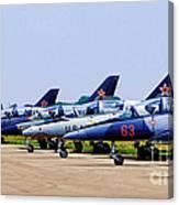 Flight Line At The E.a.a. Canvas Print