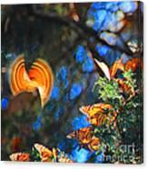 Flight Of A Monarch Canvas Print