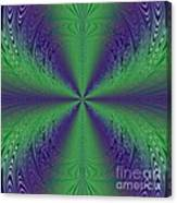 Flight Of Fancy Fractal In Green And Purple Canvas Print