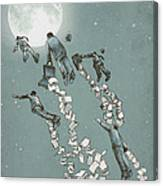 Flight Of The Salary Men Canvas Print