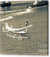 Flight- Landing In The Bay Canvas Print