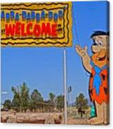 Flinstones Bedrock City In Arizona Canvas Print