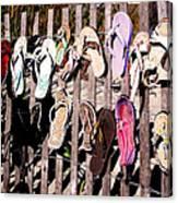 Flip Flops By Jan Marvin Canvas Print