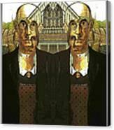 Flipped Gothic  Canvas Print