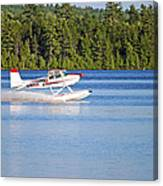 Float Plane Landing On The Lake Canvas Print