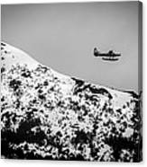 Float Plane Over The Mountain Canvas Print