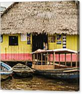 Floating Bar In Shanty Town Canvas Print