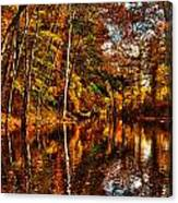 Floating Down Heavenly River. Canvas Print