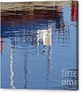 Floating On Blue 21 Canvas Print
