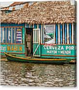 Floating Pub In Shanty Town Canvas Print