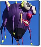 Floating Purple People Eater Canvas Print