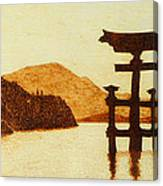 Floating Torii Gate Canvas Print