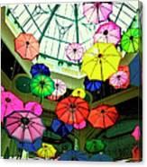 Floating Umbrellas In Las Vegas  Canvas Print