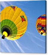 Floating Upward Hot Air Balloons Canvas Print