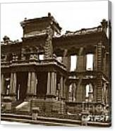 James Clair Flood Mansion Atop Nob Hill San Francisco Earthquake And Fire Of April 18 1906 Canvas Print