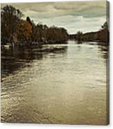 Flood Waters Milwaukee River 2013 Canvas Print