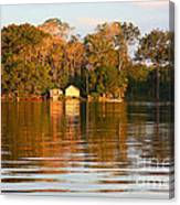 Flooded Amazon With Houses Canvas Print