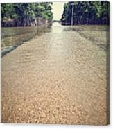 Flooded Road Canvas Print