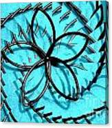Flor Azul Canvas Print