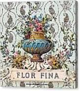 Flor Fina Canvas Print