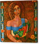 Flora - Goddess Of The Seeds Canvas Print