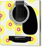Floral Abstract Guitar 22 Canvas Print