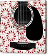 Floral Abstract Guitar 24 Canvas Print