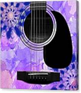 Floral Abstract Guitar 27 Canvas Print