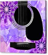 Floral Abstract Guitar 29 Canvas Print